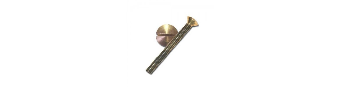 Bronze Oval Head Slotted Bolts