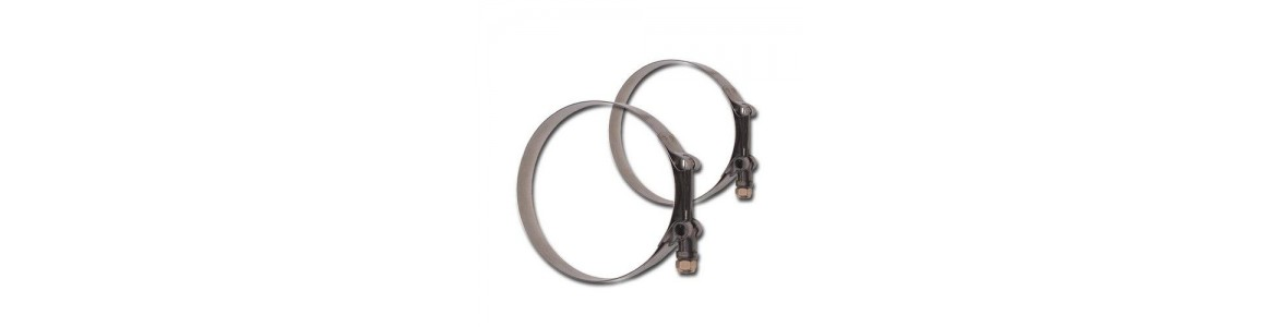 Stainless Steel T-Bolt Band Clamps (Long Bolt)
